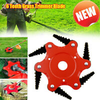 6 Tooth Lawn Mower Blade Razor 65Mn Steel Grass Weed Trimmer Brush Head Cutter