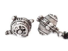 2 unique Old Berber Silver Beads from Morocco
