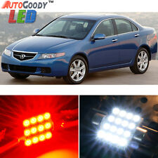 12 x Premium Red LED Lights Interior Package Kit for Acura TSX 2004-2008