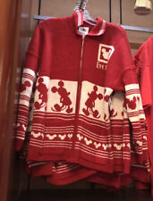 2020 Disney Parks Christmas Holiday Woven Sweater Spirit Jersey Cardigan M L Xl