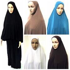 Islamico Gebetskleidung 2-tlg Khimar Musulmana Caftano Abaya Dubai Hijab Islam
