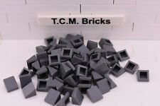 TCM Compatible Bricks Dark Bluish Gray Slope 30 1 x 1 x 2/3 (Cheese) -QTY: 100