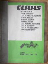 Claas Liner 330 s, 330 D, 330 pièce de rechange liste