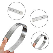 30CM 6 INCH THIN STAINLESS METAL RULER RULE PRECISION DOUBLE SIDED Scale FT2
