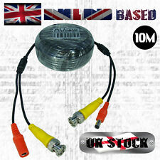 10m CCTV Cable - Pre-Terminated/Siamese 'Shotgun' Signal+Power - Blk (10 Metres)
