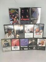 80's Music LOT OF 12 Cassette Tapes Loverboy Dexy's Bryan Adams Corey Hart Eddie