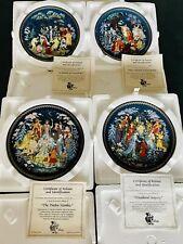 Bradford Exchange~Gifts Of The Season ~ 4 Russian Plates by Anatoly Vleshko ~New