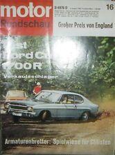 * Motor-Rundschau 16  / 1969 -  Ford Capri 1700 R - GP England *
