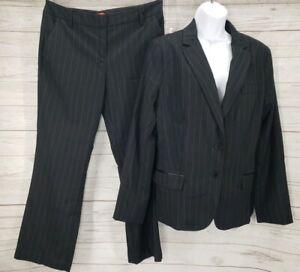 NWT NY&Co 2 Pc Pant Suit Sz 14 Jacket Blazer Sz 10 Trouser Lined Pin Stripe