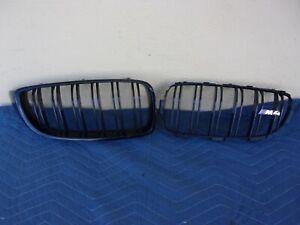 14-16 BMW F32 F36 FRONT OEM LEFT & RIGHT UPPER BUMPER GRILLE 51137294817/818