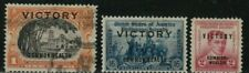 PHILLIPPINES STAMPS 1945 SC# 443, # 485, # 491 VICTORY  Overprint