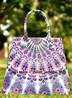 Indian Shoulder Women Satchel Handbag Tote Bag Mandala Cotton Purse Lady Multi