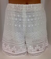 Chloe Shorts White Embroidered Lined  Size 34 NWT $1995