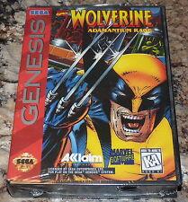 SEGA GENESIS - WOLVERINE: ADAMANTIUM RAGE Game COMPLETE New SEALED Marvel