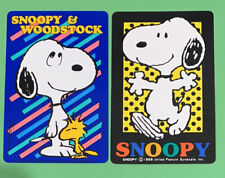 Playing Swap Cards = 2 Single Snoopy & Woodstock
