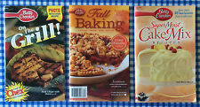 3 Betty Crocker Recipe Booklets/Magazines:On the Grill, Fall Baking, Moist Cakes