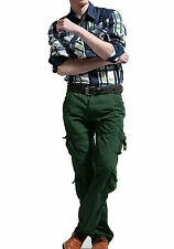 Mens Cargo Trousers Six Pocket Designer Army Combat Pants Fashion Collection
