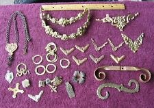 Vintage Lot of Ornate Metal Furniture Pediments~For Parts Replacement~Stock b