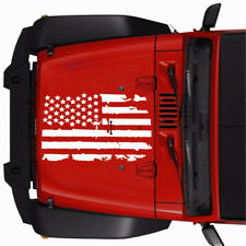 "Universal 20"" x 35"" Distressed USA Flag Hood Sticker Decal For Jeep Hummer Rover"