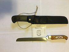 "Custom Handmade Bread Knife ""Kasatka"" X12MF Steel by Nazarov Forge"