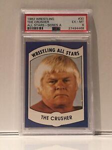 1982 Wrestling All Stars The Crusher PSA 6. Highest on Ebay. LOW POP: PSA 6's +