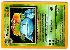 POKEMON ESPAGNOL BASE SPANISH HOLO CARD N°  15/102 VENUSAUR 100 PI