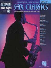 SAX Classics SASSOFONO Play-Along VOL 4 MUSIC BOOK & tracce di supporto audio