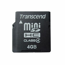 4GB MINISDHC TRANSCEND MINI Memory Card 4G GENUINE MADE IN TAIWAN