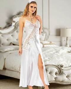 Women Satin and Lace Bridal Nightdresds      European Products