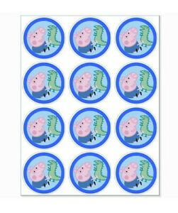 12 George Pig Party Stickers