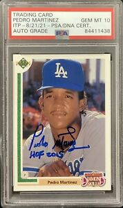 Pedro Martinez Signed 1991 Upper Deck #2F Card Dodgers PSA/DNA Auto Gem Mt 10