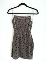 Revolve By The Way Women's Silver Velvet Star Georgia Bodycon Dress Size S