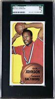 1970-71 Topps Gus Johnson Bullets Basketball Jumbo Card #92- SGC 9 MINT PSA!