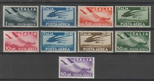 s38084 ITALIA MNH** 1945/47 Posta Aerea Democratica 9v