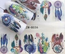Full Sheet Dreamcatcher - Feather - Watercolor - Nail Stickers - Salon Quality N