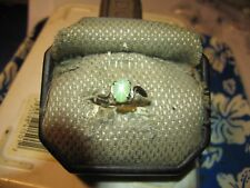 7X5MM MINT GREEN  LINDE STAR SAPPHIRE RING 925 STERLING SILVER SIZE 6