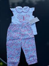 C&a 100% Bio coton top et pantalon costume 9-12 mois Taille 74