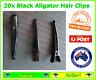 Pack of 20x Alligator Aligator Black Hair Clips 4.4cms long Hair  For JoJo Bows