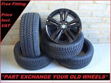 "2542 Genuine 17"" BMW 392 3 Series F30 4 Series F32 Alloy Wheels & Winter Tyres"