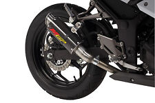 2013-2017 Ninja 300 MGP Growler Carbon Fiber Exhaust Slip On Hotbodies 2015 2016