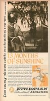 1967 Original Advertising' Vintage Ethiopian Airlines 13 Months of Sunshine