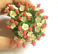 Pink BD A077 1:12 Dollhouse Miniature Assorted Flowers in Clay Planter