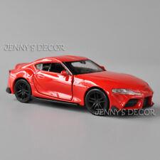 1:36 Welly Diecast Metal Pull Back Car Model Toys Toyota Supra Miniature Replica