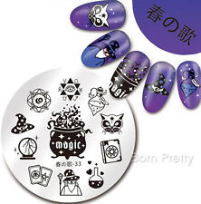 Nail Art Stamping Plate Magic Tarot Hat Cat 1Pc Manicure Template Harunouta-33