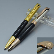 High quality rolex RX Classic ballpoint pen Black Rose gold Gift Pen