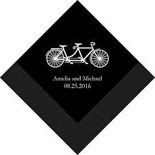 500 Tandem Bike Bicycle Personalized Wedding Luncheon Napkins