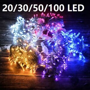 Waterproof String Fairy Lights Battery Operated Outdoor 20-100 LED Flash Steady