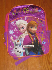 Disney Frozen Girl's Backpack - Pink and Purple with Amber Trim New