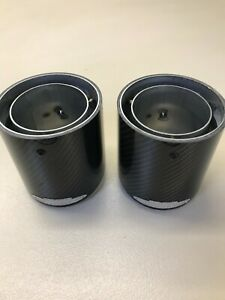 MINI JCW Carbon Exhaust Finishers PAIR New and Boxed Part number 18302468715