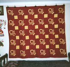 """""""BASKETS"""" Quilt: 66"""" x 76"""", c.1920's, from the Ontario,Canada AMISH Community."""